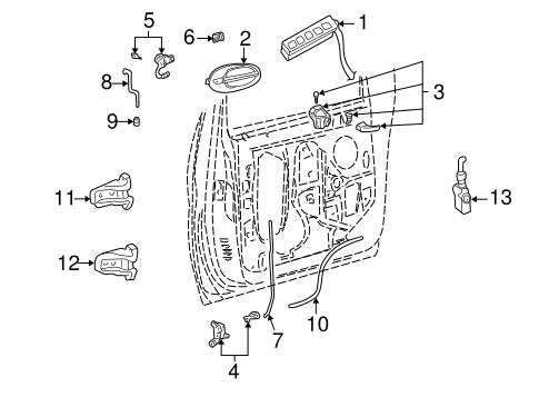 Ford Lock Cylinder 7c3z1521990a