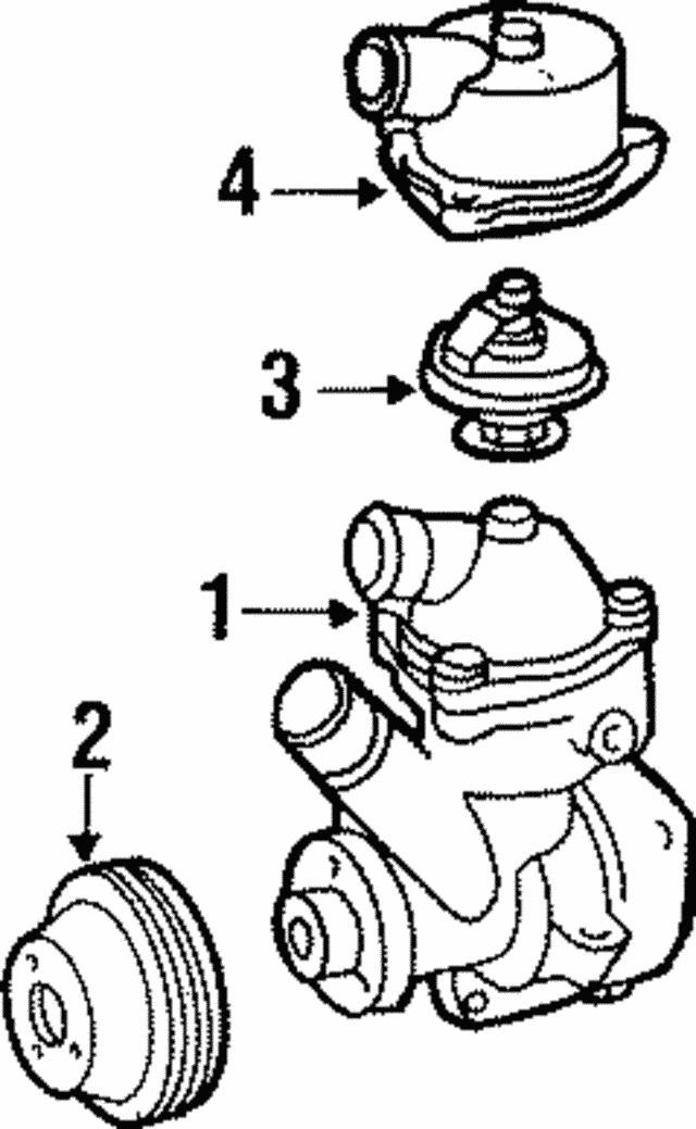 Engine Coolant Thermostat - Mercedes-Benz (110-200-05-15)