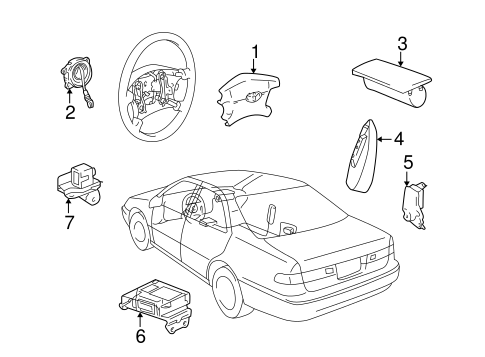 ELECTRICAL/AIR BAG COMPONENTS for 1998 Toyota Camry #1