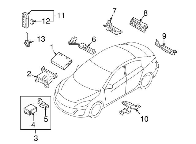 BCY1-67-5RY Genuine Mazda Keyless Entry Transmitter Set