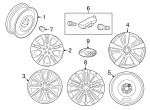 Wheel, Alloy - Subaru (28111FL02A)