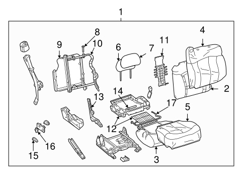 Front Seat Components for 2000 GMC Yukon #3
