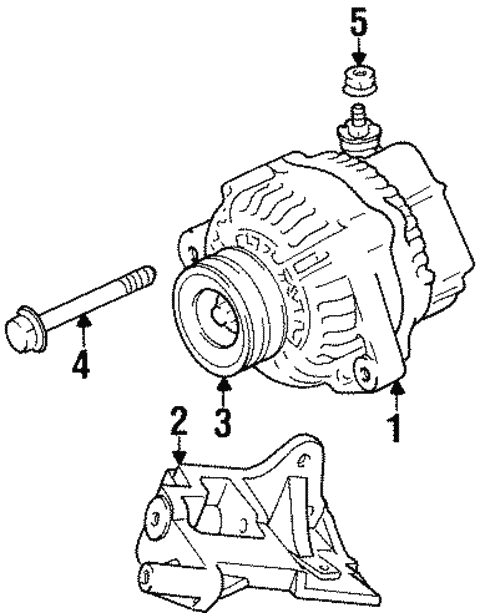 Genuine Oem Alternator Parts For 1997 Toyota Land Cruiser Base