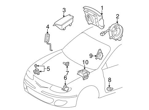 ELECTRICAL/AIR BAG COMPONENTS for 2002 Toyota Solara #1