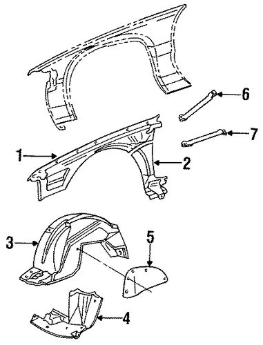 inner components for 1994 cadillac fleetwood