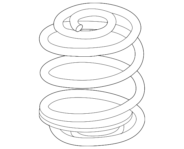2008 2012 Gm Coil Spring 20926665