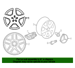 Wheel, Alloy - Mercedes-Benz (253-401-19-00-64-7X23)