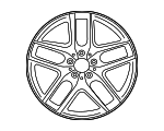 Amg 5-Twin-Spoke Wheel 53.3 Cm (21-Inch) - Mercedes-Benz (253-401-38-00-7X71)