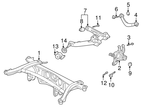 REAR SUSPENSION/REAR SUSPENSION for 2003 Toyota Matrix #2