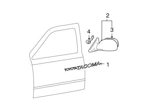 BODY/EXTERIOR TRIM - FRONT DOOR for 2001 Toyota Tacoma #1