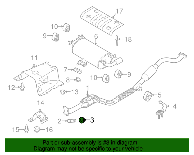 Genuine Mazda Converter /& Pipe Nut 9YB0-41-015