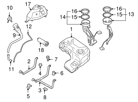 Fuel System Components for 2001 BMW X5 #1