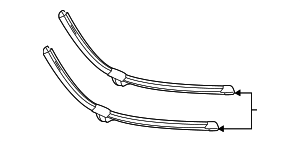 Wiper Blade - Mercedes-Benz (222-820-11-45)