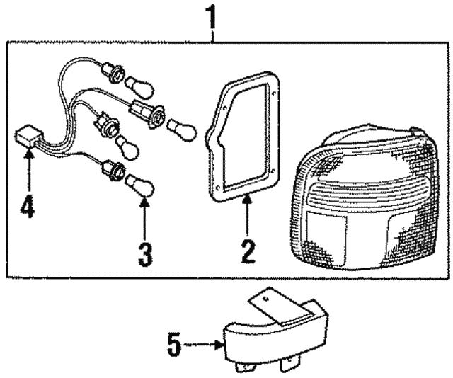 1998 2002 Kia Sportage Socket Wire 0k080 51156