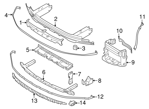 Bumper & Components - Front for 2017 BMW 750i #0