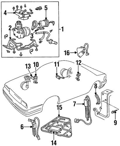 oem ride control components for 1994 cadillac deville. Black Bedroom Furniture Sets. Home Design Ideas