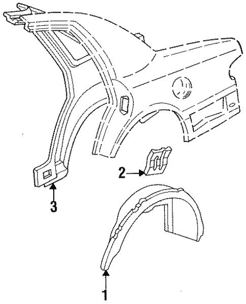 1997 Mercury Grand Marqui Door Panel