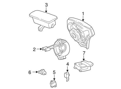 Genuine Oem Air Bag Components Parts For 2003 Toyota Corolla Ce
