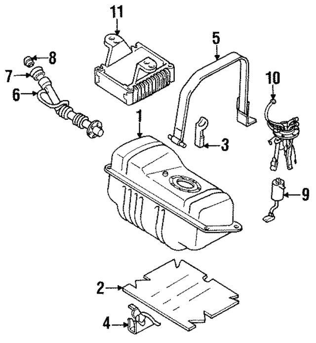 1990 1996 Infiniti Q45 Fuel Pump Control Modulator 17001 60u01