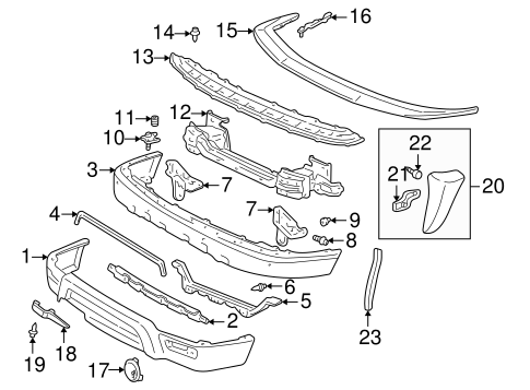 BODY/BUMPER & COMPONENTS - FRONT for 2000 Toyota 4Runner #1