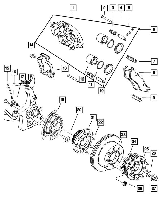 Genuine Chrysler 5015128AA Service Brake Shield