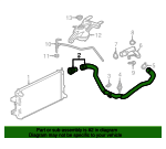 Radiator Coolant Hose - GM (84440071)