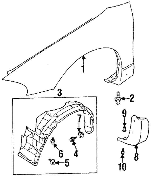 1995 2000 Dodge Avenger Stone Guard Mb882503
