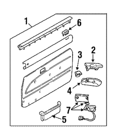 Genuine Oem Interior Trim Door Parts For 1994 Toyota Pickup Base