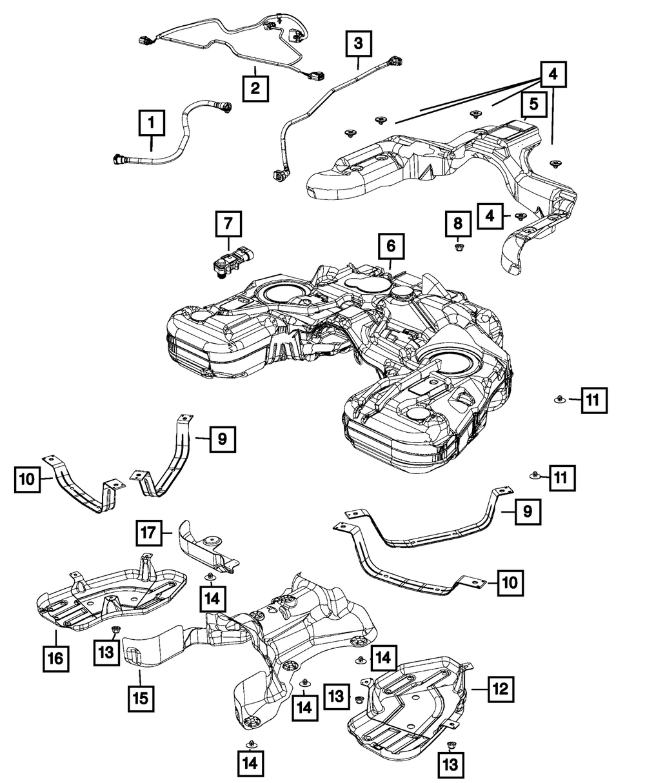 02-06 Dodge Sprinter Fuel Filler Cap Gas Cap for Fuel Tank Factory Mopar New