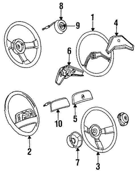 oem 1993 buick century steering wheel parts