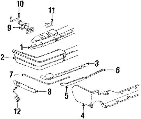 oem 1986 cadillac eldorado rear bumper parts