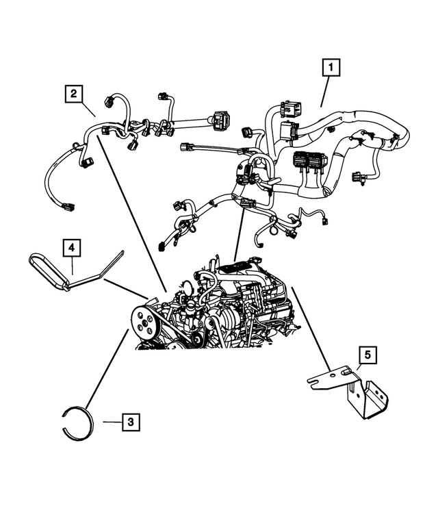 Engine Wiring - Mopar (68058638AB)