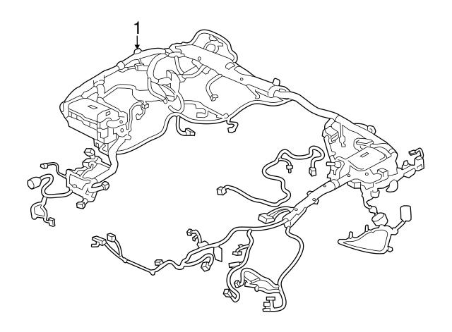 2017 Jaguar F Pace Wire Harness T4a9652