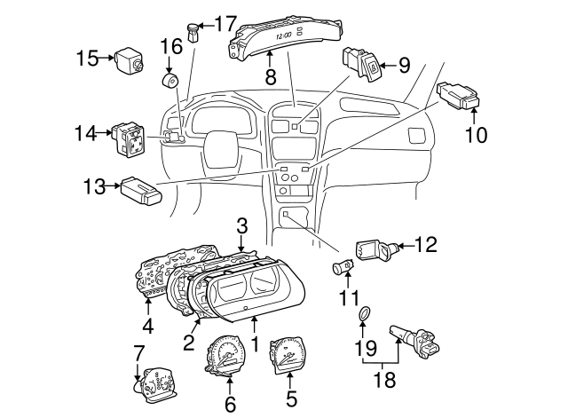 1999 2001 Toyota Tachometer 83881 06370