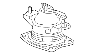 Rubber Assembly, Front Engine Mounting - Honda (50830-SHJ-305)