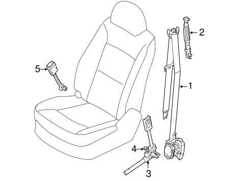 Front Seat Belts for 2011 Kia Sorento #0
