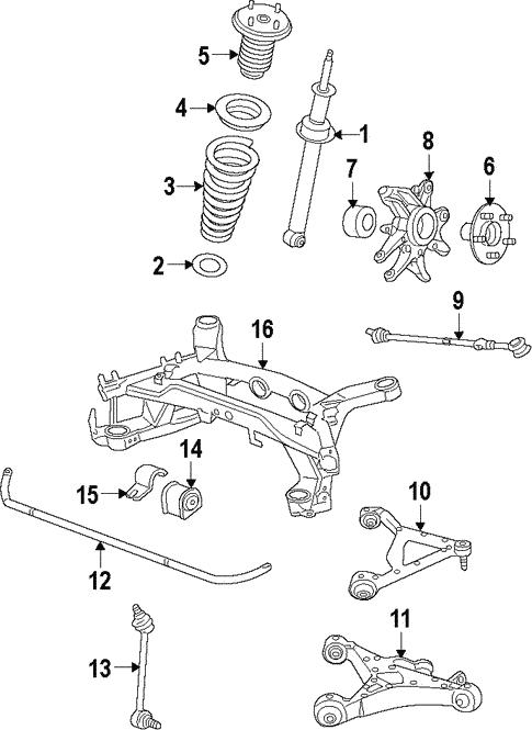rear suspension for 2009 jaguar xf jaguar parts unlimited. Black Bedroom Furniture Sets. Home Design Ideas