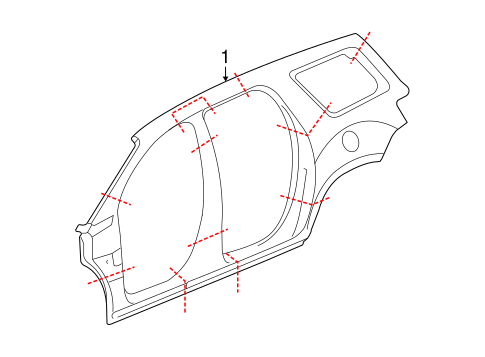 Oem Uniside For 2016 Gmc Acadia
