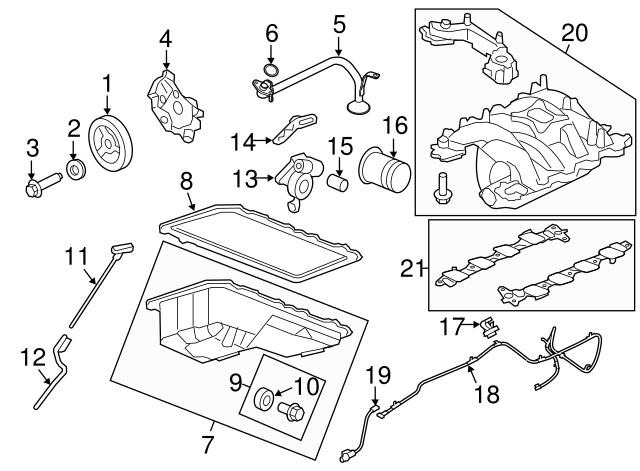 1997 2019 Ford Crankshaft Pulley Washer F1az 6378 A