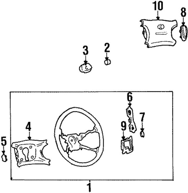 Genuine Hyundai 56173-34500-FG Steering Wheel Cover Assembly