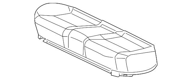 Rear Honda Genuine 82131-SNE-A11ZB Seat Cushion Trim Cover