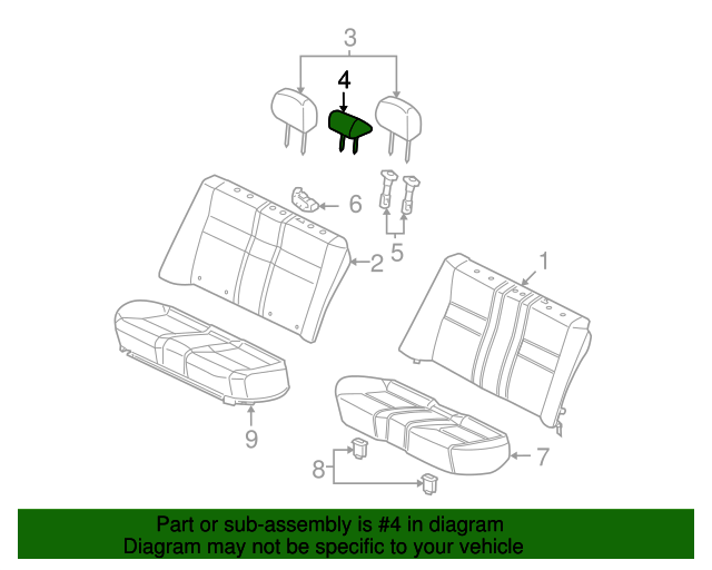 Honda Genuine 82144-SDA-A01ZK Headrest Lock Guide
