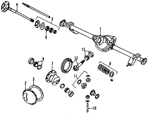 Rear Axle Differential Diagram