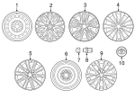 Wheel Cover - Toyota (42602-06120)