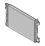 Genuine Audi Radiator 80A-121-251-D