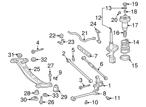 REAR SUSPENSION/REAR SUSPENSION for 2001 Toyota Solara #1