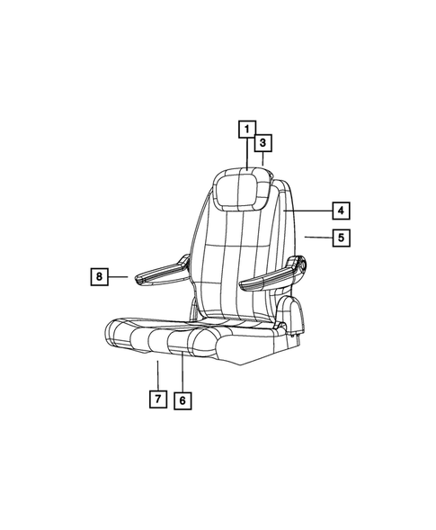 Rear Seats - Second Row for 2013 Chrysler Town & Country #2