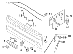 remote tailgate dampner (for soft open use with FL3Z-83430B38-B) - Ford (FL3Z-99442A38-A)