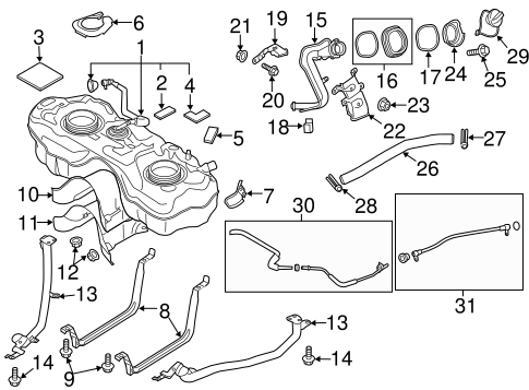 Fuel System Components for 2016 Mazda CX-3 #3