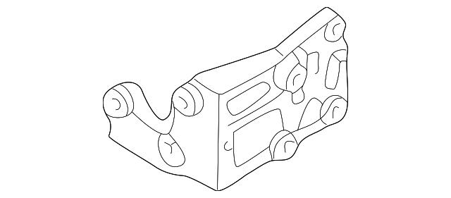 2002 2010 Infiniti Power Steering Pump Mount Bracket 11940 Ar00a